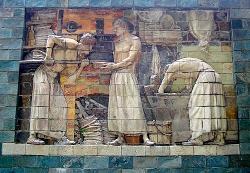 Le haut-relief: Les boulangers.