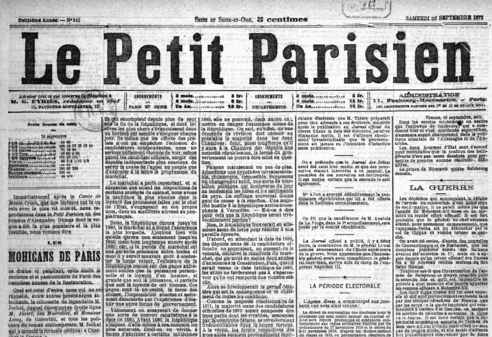 Le Petit Parisien 1877