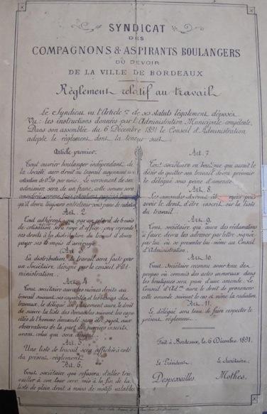 Compagnons et Aspirants de Bordeaux en 1891