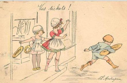 Humour et carte de pain 1914-1918