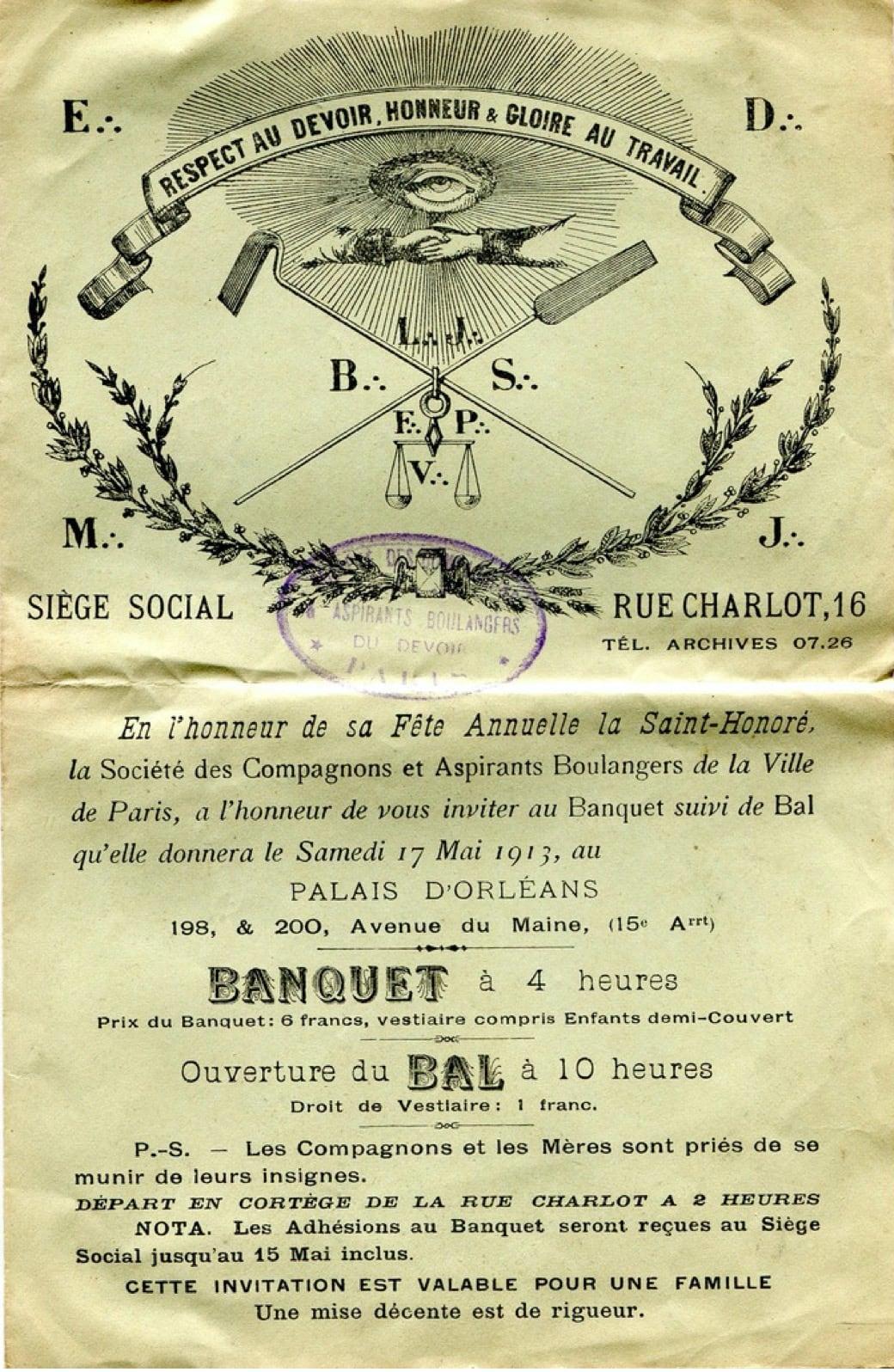 Saint-Honoré Paris 1913