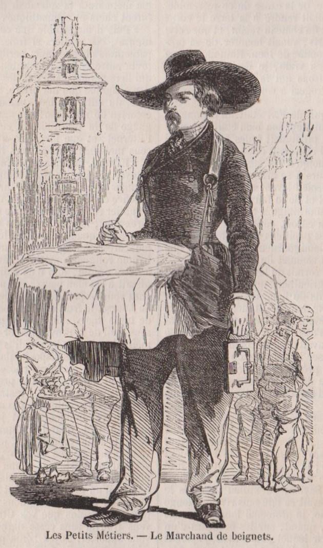 Le marchand de beignets à Paris