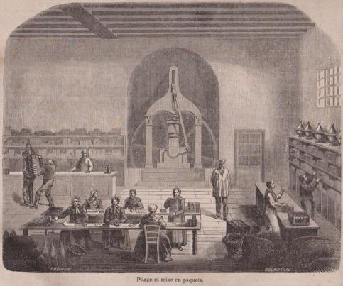 La fabrication du chocolat dans le journal pour tous en 1858