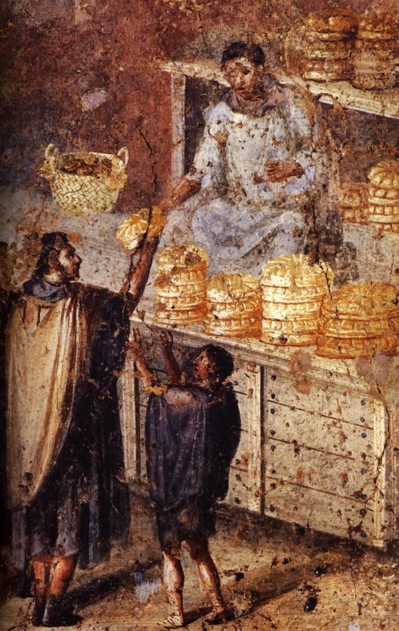 Le marchand de pain, Pompei.